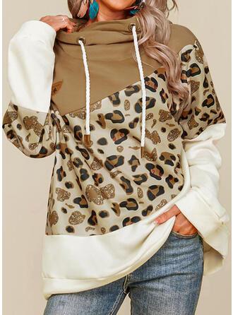 Leopard Hooded Long Sleeves Hoodie