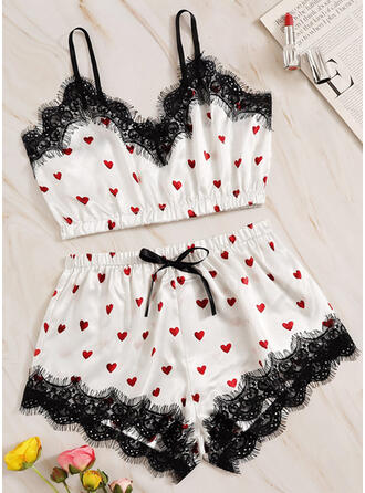 Polyester Lace Cami Set