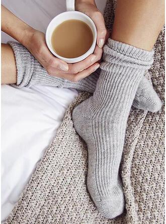 Solid Color Warm/Comfortable/Women's/Crew Socks Socks