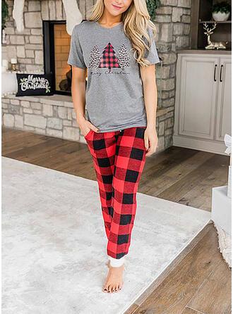 Cotton Long Sleeves Christmas Pyjama Set