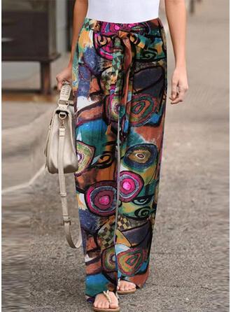 Geometric Print Long Boho Casual Print Pants