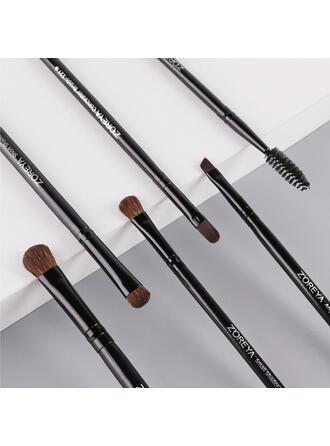 6 PCS Two Tone Handle Plain Woolen Makeup brush sets