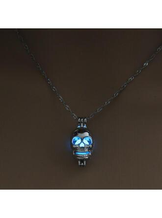 Skull Luminous Halloween Alloy Necklaces
