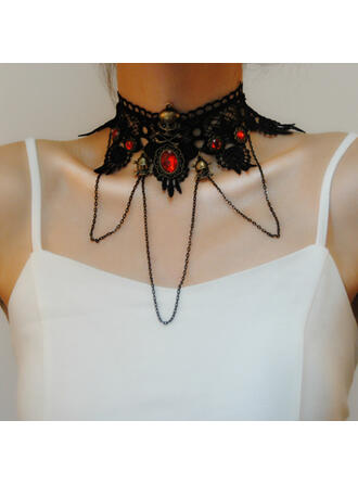 Halloween Gothic Alloy Lace Necklaces
