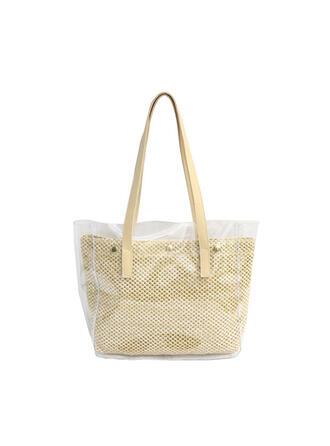 Transparent/Bohemian Style/Braided/Super Convenient Tote Bags/Beach Bags/Hobo Bags