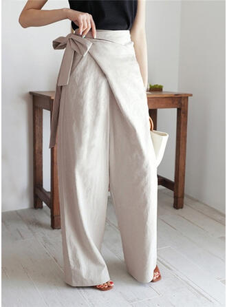 Solid Long Elegant Long Pants