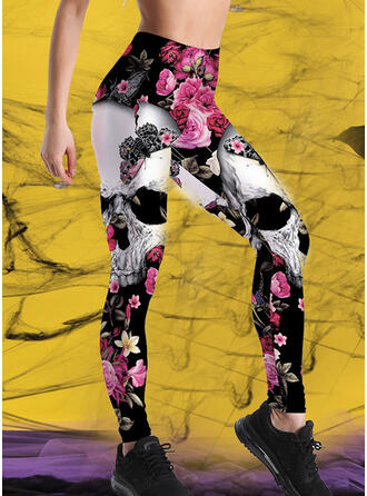 Print Halloween Long Casual Sporty Yoga Pants Leggings