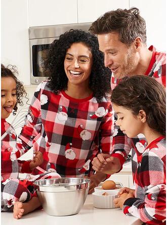 Santa Plaid Print Family Matching Christmas Pajamas