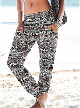 Striped Print Long Boho Casual Yoga Pants