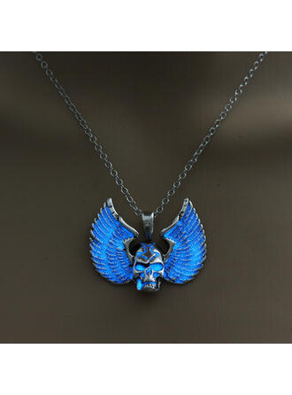 Skull Wings Shaped Luminous Halloween Alloy Necklaces