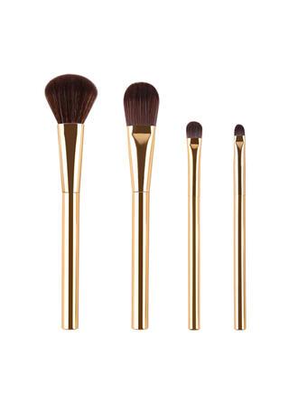 4 PCS Plain Two Tone Handle Makeup brush sets