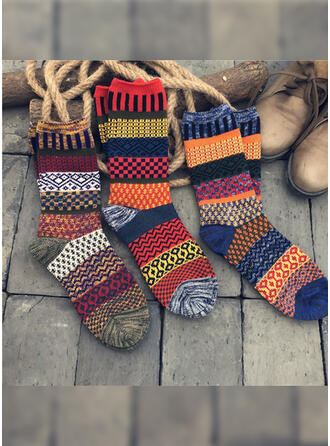 Bohemia/Colorful Breathable/Crew Socks Socks 3-pairs