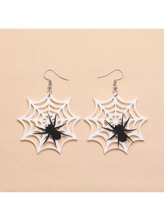 Halloween Spider Net Acrylic Earrings 2 PCS