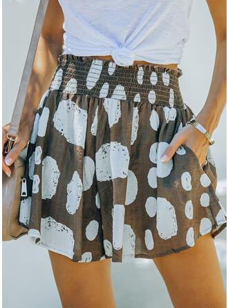 PolkaDot Above Knee Casual Shorts